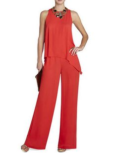BCBG MAX AZRIA Hadli Sleeveless Draped Jumpsuit