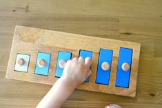 short tall small big light heavy #montessori #toddler activity 18-24 months
