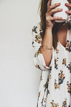 Retro Print Swing Tunic // Free People...and that bracelet=perfection!