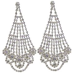Diamante Chandelier Clip on Earrings from Eternal Collection