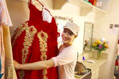 "Christy Altomare star of the new musical ""Anastasia"" and her new Royal Red Ball Gown."