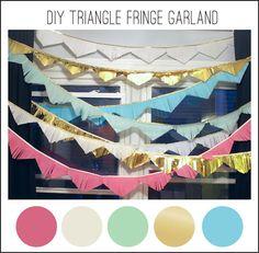 mint love social club: {diy mini triangle garland backdrop}