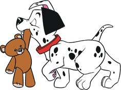 101 Dalmatians Pup With Teddy Bear Decal Scrapbooking Car Sticker Disney Mural, Arte Disney, Disney Art, Disney Drawings, Cute Drawings, Animal Drawings, 101 Dalmatians Characters, Disney Bookmarks, Farm Animal Coloring Pages