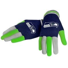 Seattle Seahawks NFL Multi Color Knit Gloves