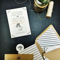 So fresh and so clean! | Wedding invites by Smitten on Paper