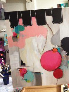Valentines and a Big Canvas. Teresa McFayden