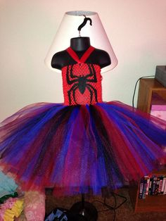Miss SpiderMan Spider Woman tutu dress size by PrincessEmmaCouture, $44.99