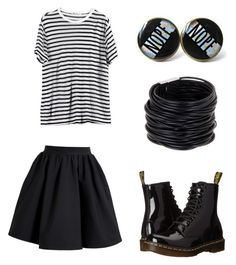"""""""Punk"""" by emmmaxo23 on Polyvore featuring T By Alexander Wang, Acne Studios, Saachi, Dr. Martens and stripedshirt"""