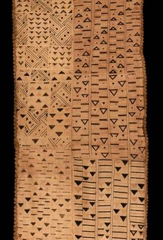 Africa | Kuba people, DR of Congo |  - Detail of  a ceremonial skirt'  | Late 19th-20th century | Raffia