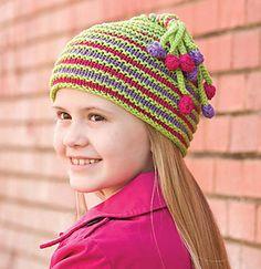 Bodacious Bobble Hat pattern by Irina Poludnenko Kids Knitting Patterns, Baby Hat Patterns, Baby Hats Knitting, Knitting For Kids, Crochet For Kids, Free Knitting, Knitted Hats, Crochet Patterns, Crochet Gifts