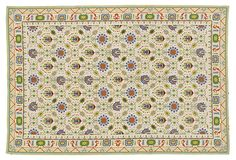 6'x9' Hoover Flat-Weave Rug, Cream/Multi on OneKingsLane.com