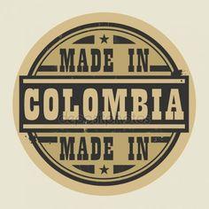 Resumen sello o etiqueta con el texto hecho en Colombia Gráficos Vectoriales Colombian Art, Colombian Coffee, Coffee Logo, Free Instagram, Custom Stamps, Logos, Pop Art, How To Make, Travel