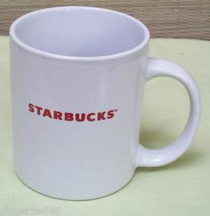 Starbucks White Coffee Mug 2009 11 ounces