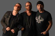 Bono, Dave Stewart and The Edge #u2newsactualite #u2newsactualitepinterest #bono #theedge #larrymullen #adamclayton #u2 #music #rock #davestewart