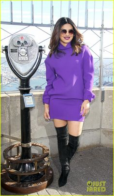 Priyanka Chopra Has Had a Crush on a Co-Star Before!: Photo Priyanka Chopra strikes a pose while visiting the Empire State Building on Friday (November in New York City. Priyanka Chopra Makeup, Old Actress, Having A Crush, Strike A Pose, Bollywood Actress, Photo Galleries, Crushes, Actresses, Poses
