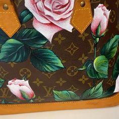 Painting Leather, Custom Bags, Luxury Branding, Fashion Art, Make It Simple, Louis Vuitton, Hand Painted, Throw Pillows, Handbags