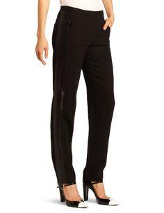 HALSTON HERITAGE Women's Tuxedo Pant, Black, 8   Traveling Of Life
