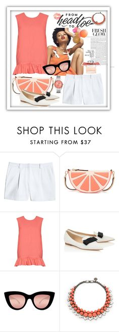 """Untitled #933"" by talatay ❤ liked on Polyvore featuring Canvas by Lands' End, Kate Spade, Marni, GALA, Quay, LARA, Ellen Conde and FOSSIL"