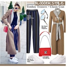 How To Wear Blogger Style-Tomboy Trousers + Classic Coat Outfit Idea 2017 - Fashion Trends Ready To Wear For Plus Size, Curvy Women Over 20, 30, 40, 50