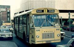 Maastricht - De stadsbussen vroeger/ the old pale yellow city buses :-)