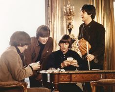 THE BEATLES THE FAB FOUR PLAY CARDS AT CLIVEDON UK FROM HELP 8X10 PHOTO | eBay
