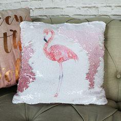 Pretty Sequined Two Tone Flamingo Scatter Cushion #cushion #flamingo #sequins #pinkdecor #homedecor #interiors #interiordesign #interiordecor #trends #homeideas #homedecorideas