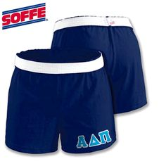 Shorts For Alpha Delta Pi Sorority Soffee Junior Shorts with Twill $20.99