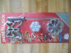 Vintage Rosette Iron, Rosette Iron, Vintage Baking Cast Aluminum, Scandinavian…