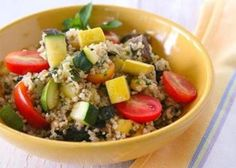 #Recipe for bulgur salad with cucumbers, bell peppers, and cherry tomatoes