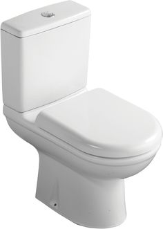 Ideal Standard Della Close-Coupled Toilet with Soft Close Seat - B&Q for all your home and garden supplies and advice on all the latest DIY trends Bathroom Shower Enclosures, Quadrant Shower Enclosures, Master Bath Shower, Master Bathroom, Understairs Toilet, Close Coupled Toilets, Toilet Accessories, Downstairs Toilet, New Toilet