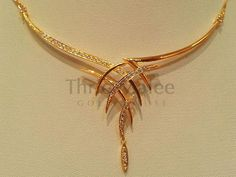 Thrie Malee Gold House – offers the largest selection of fine jewelry and gemstones with fair prices. Gold Earrings Designs, Gold Jewellery Design, Handmade Jewellery, Jewellery Shops, Jewellery Box, Silver Jewellery, Necklace Designs, Handmade Bracelets, Bridal Necklace