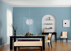 This is the project I created on Behr.com. I used these colors: DOLPHIN BLUE(S470-4),DOLPHIN FIN(790C-3),GENTLE SEA(S470-2),LOFT SPACE(N500-2),