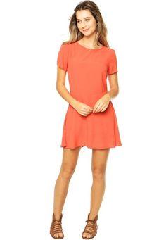 orange dress - basic - classic