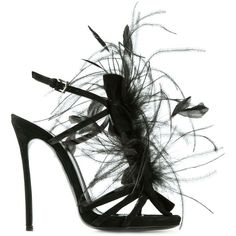 Dsquared2 feather sandals (17,695 MXN) ❤ liked on Polyvore featuring shoes, sandals, heels, black, leather sandals, leather strappy sandals, black ankle strap sandals, strappy heel sandals and strap sandals