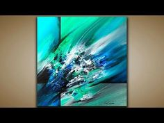 Abstract Painting / DEMO 53 / Scratching and Blending / Abstract art / Painting Techniques - YouTube