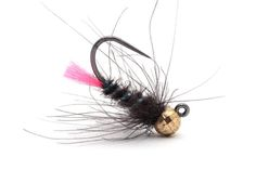 black jig with uv ribbing nymphs
