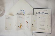 Le Petit Prince first birthday invites so precious