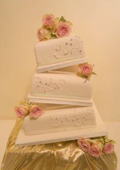 Tilted Wedding Cake