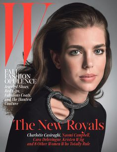 Charlotte Casiraghi photographed by Inez and Vinoodh, styled by Edward Enninful; W Magazine October 2014