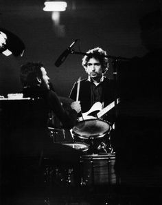 Levon Helm and Bob Dylan, uncredited photo