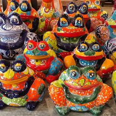 Talavera Frog Planters. Available at Barrio Antiguo 725 Yale St 77007 (713)8802105
