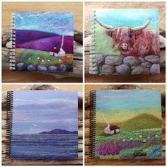 Felt and Fibre art, Textile Jewellery and Gifts. Handmade in Scotland Felt Pictures, Fibre Art, Textile Jewelry, Felting, Postcards, Embellishments, Scotland, Projects To Try, Hearts