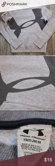 UNDER ARMOUR Boys Crewneck Sweatshirt Size Medium Under armour boys grey crewneck sweatshirt, size medium. Good condition, some wash wear. Under Armour Shirts & Tops Sweatshirts & Hoodies