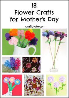 18 Flower Crafts for