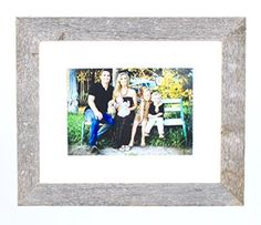 barnwoodusa rustic 11x14 inch wood photo frame with white mat fits for 8x10 inch photograph 100