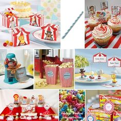 Things Festive Weddings & Events: Vintage Circus Baby Shower