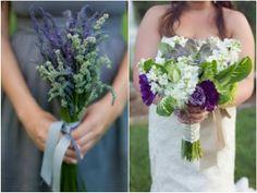 bouquet de mariage en lavande la mariée portant les bouquet lavande