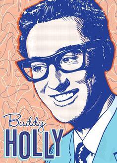 Buddy Holly Pop Art Print 13x19 by RedRobotCreative on Etsy, $25.00