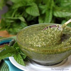 Got Basil? Make Pesto! Easy photo tutorial for making and freezing Classic Basil Pesto to enjoy for months to come. A Food, Good Food, Food And Drink, Yummy Food, Tasty, Cocina Natural, How To Make Pesto, Cooking Recipes, Healthy Recipes