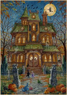 Trick or treat, huge house